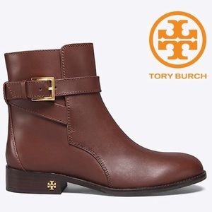 {Tory Burch} Calfskin Leather Brooke Ankle Booties